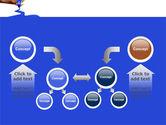 Blue Marker PowerPoint Template#19