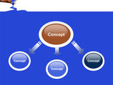 Blue Marker PowerPoint Template#4
