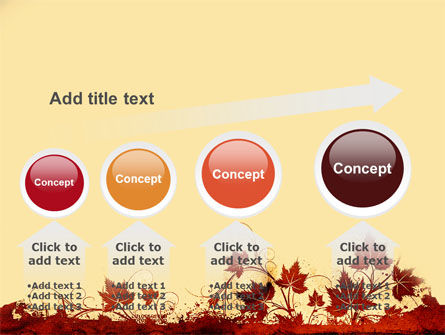Vine Leaves Frame PowerPoint Template Slide 13