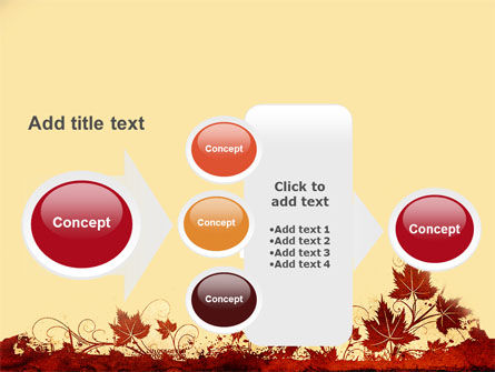 Vine Leaves Frame PowerPoint Template Slide 17