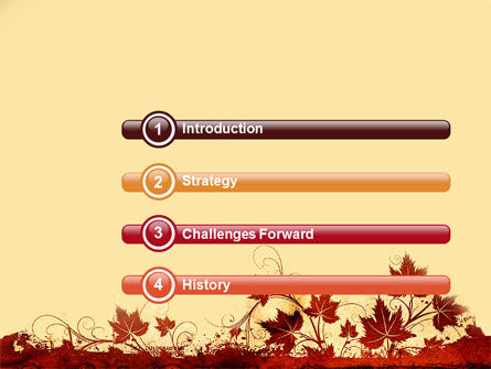 Vine Leaves Frame PowerPoint Template Slide 3