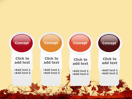 Vine Leaves Frame PowerPoint Template Slide 5