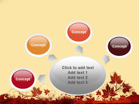 Vine Leaves Frame PowerPoint Template Slide 7