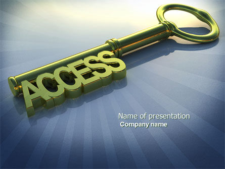 Business Concepts: Access Key PowerPoint Template #04689
