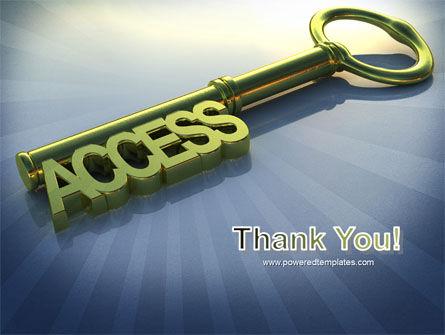 Access Key PowerPoint Template Slide 20