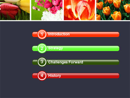 Tulips PowerPoint Template Slide 3