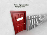 3D: Waiting Line PowerPoint Template #04691
