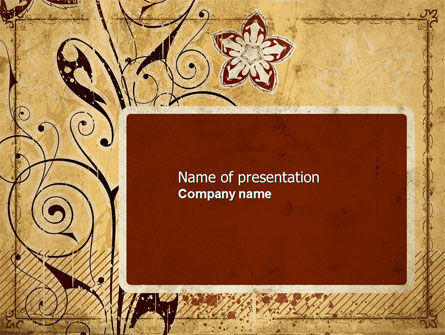 Abstract/Textures: Vegetative Pattern PowerPoint Template #04695
