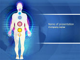 Medical: Body Chakras PowerPoint Template #04696