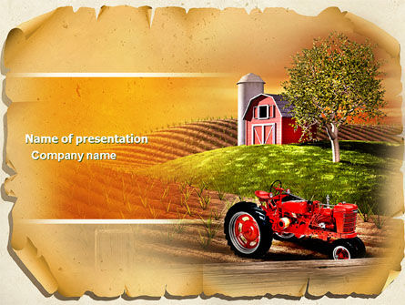 Life On The Farm PowerPoint Template, 04698, Agriculture — PoweredTemplate.com