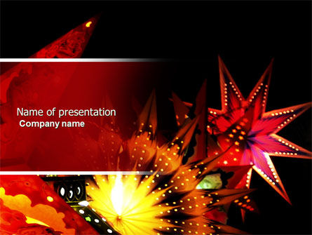 Festival of Lights PowerPoint Template, 04701, Holiday/Special Occasion — PoweredTemplate.com