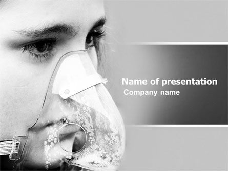 Oxygen Mask PowerPoint Template, 04702, Medical — PoweredTemplate.com