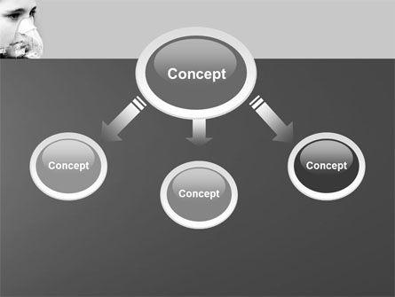 Oxygen Mask PowerPoint Template, Slide 4, 04702, Medical — PoweredTemplate.com