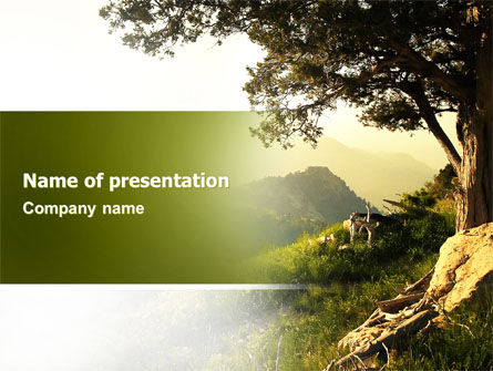 Upland PowerPoint Template, 04704, Nature & Environment — PoweredTemplate.com