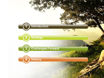 Upland PowerPoint Template, Slide 3, 04704, Nature & Environment — PoweredTemplate.com