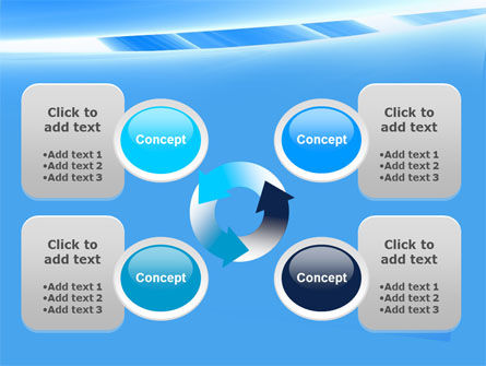 Abstract Notches Free PowerPoint Template Slide 9