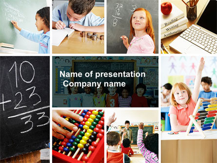 Lesson In Math PowerPoint Template, 04707, Education & Training — PoweredTemplate.com