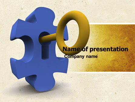Consulting: Key Puzzle PowerPoint Template #04708