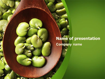 Food & Beverage: Broad Beans PowerPoint Template #04711