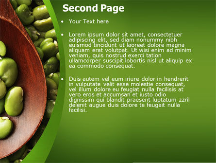 Broad Beans PowerPoint Template Slide 2