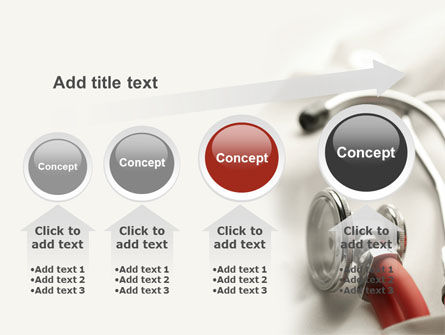 Phonendoscope In A Gray Red Colors PowerPoint Template Slide 13