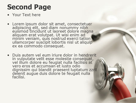 Phonendoscope In A Gray Red Colors PowerPoint Template, Slide 2, 04712, Medical — PoweredTemplate.com