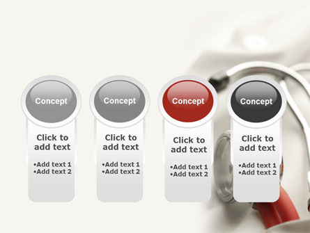 Phonendoscope In A Gray Red Colors PowerPoint Template Slide 5