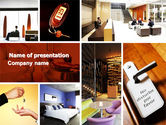 Careers/Industry: Hotel Services PowerPoint Template #04713