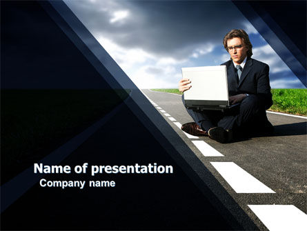 On the Way PowerPoint Template