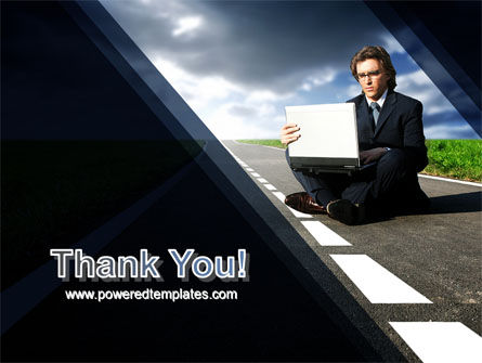 On the Way PowerPoint Template Slide 20
