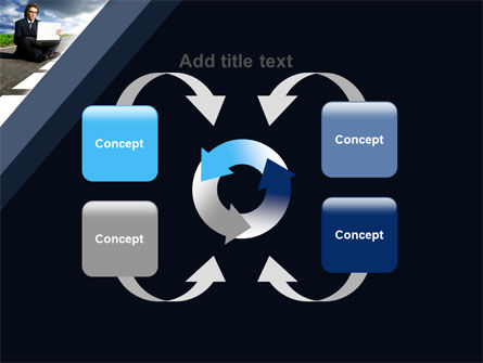 On the Way PowerPoint Template Slide 6