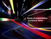 Cars and Transportation: Long Exposure PowerPoint Template #04717