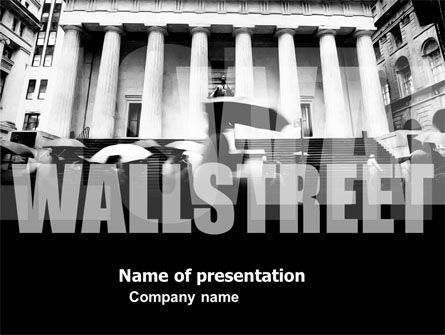 Financial/Accounting: Modèle PowerPoint de wall street #04718