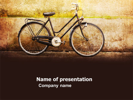 Cars and Transportation: Bicycle PowerPoint Template #04720