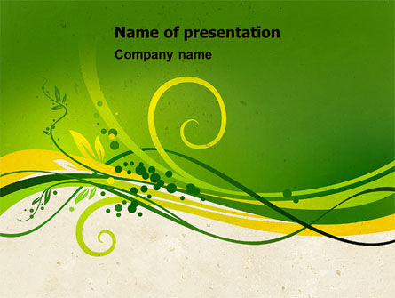 Green Sprouts PowerPoint Template