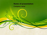 Abstract/Textures: Green Sprouts PowerPoint Template #04721