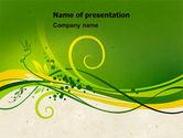 Abstract/Textures: Groene Spruiten PowerPoint Template #04721