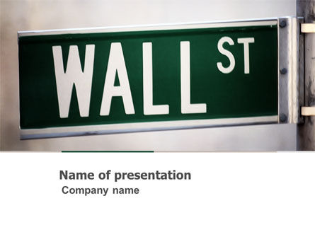 Financial/Accounting: Wall St PowerPoint Template #04722