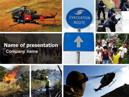 Cars and Transportation: Evacuation PowerPoint Template #04723