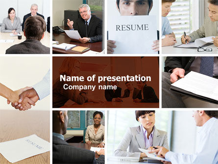 Careers/Industry: Job Interview PowerPoint Template #04724