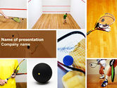Sports: Squash PowerPoint Template #04726