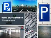 Cars and Transportation: Parking Lot PowerPoint Template #04727