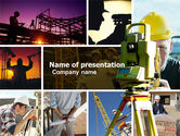 Construction: Surveying PowerPoint Template #04728