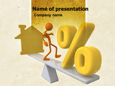 Financial/Accounting: Mortgage Interest PowerPoint Template #04729