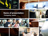 Cars and Transportation: Departure Zone PowerPoint Template #04731