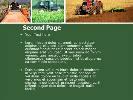 Tractor Collage PowerPoint Template, Slide 2, 04733, Agriculture — PoweredTemplate.com