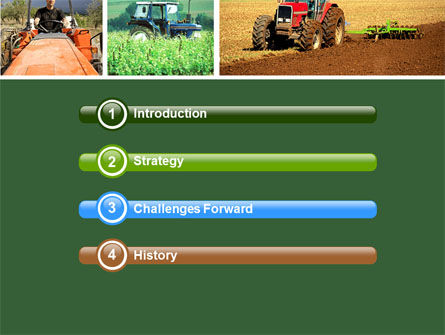 Tractor Collage PowerPoint Template, Slide 3, 04733, Agriculture — PoweredTemplate.com
