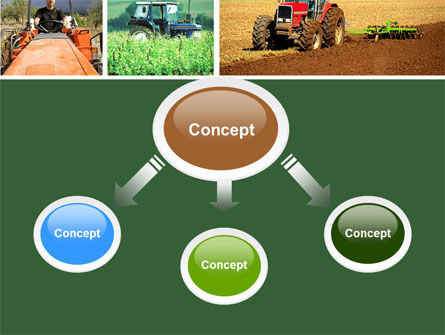 Tractor Collage PowerPoint Template, Slide 4, 04733, Agriculture — PoweredTemplate.com