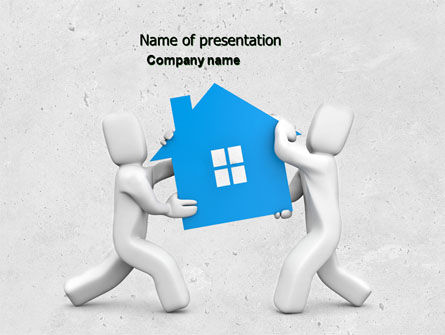 Real Property Mortgage PowerPoint Template, 04734, Financial/Accounting — PoweredTemplate.com