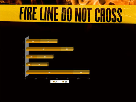 Fire Line PowerPoint Template Slide 11